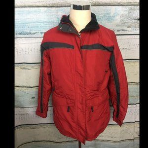 LL Bean Red winter Ski coat size M EUC Outdoors